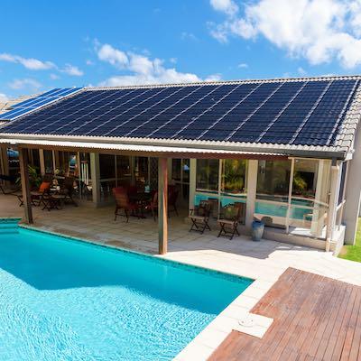 Solar on a house 400x400